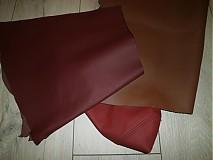 Suroviny - farebné a perforované odrezky kože 0,950 kg - 3341092