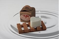 Drogéria - mydlo odlievané - srdiečko s kozím mliekom - 3342021