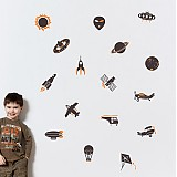 Dekorácie - Nebo a vesmír - samolepka do detskej izby - 3345971