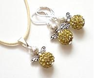 Sady šperkov - Anjeliky svetložlté - sada - 3347874