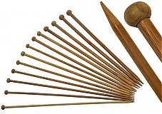 - Veľká sada 36 kusov (18 párov) bambusových ihlíc na pletenie - 3348918