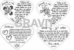Darčeky pre svadobčanov - Drevene srdiečko ako poďakovanie rodičom - 3353836