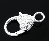 - Zatvárací mechanizmus na náramky/náhrdelníky veľké srdiečko - 3359521