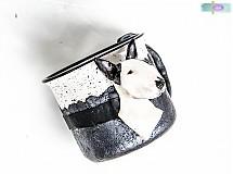 Hrnček s bustou psa - podľa fotografie