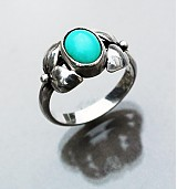 Prstene - Art & Craft turquoise ring - 3367877