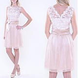 Šaty - Koktejlové spoločenské šaty s krajkovým vrškom a šifónovou sukňou rôzne farby - 3370629