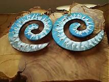 Náušnice - Obojstranné 3D náušnice - ľadovo modré - 3373498