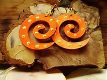 Náušnice - Obojstranné 3D náušnice - zlato orange - 3375692