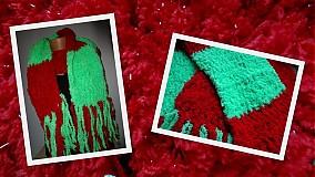 Šály - Vianočný hebučký šálik - 3381918