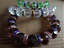 Náramky - Náramok zo sklenených korálok - 3381982