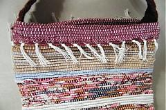Kabelky - Tkaná taška hnedo-bordová - 3382369