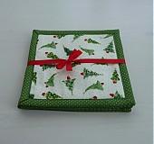 Úžitkový textil - Novelty - Vianočné podšálky 2 - 3385014
