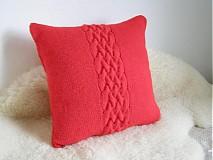 Úžitkový textil - pletené vankúše - 3397910