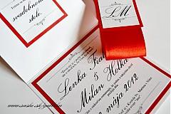 """Papiernictvo - Svadobné oznámenie """"SIMPLIE RED"""" - 3399152"""