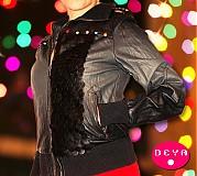 Kabáty - Ručne zdobená koženka - 3399226