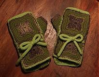 Rukavice - Zelené zimáky - 3408660