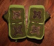 Rukavice - Zelené zimáky - 3408661