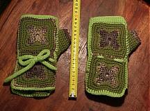 Rukavice - Zelené zimáky - 3408662