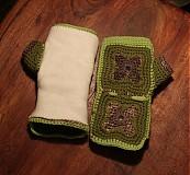 Rukavice - Zelené zimáky - 3408665
