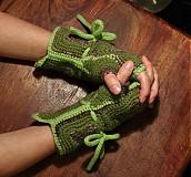 Rukavice - Zelené zimáky - 3408667