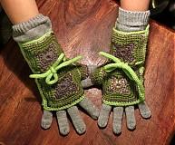 Rukavice - Zelené zimáky - 3408676