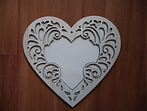 Rámiky - Srdce 11x11 ornament - rámik - 3417662