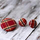 VÝPREDAJ!!! Náušky a brošňa Škótske