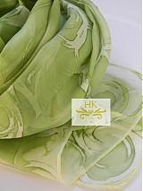 Šatky - Originálny hodvábny šál olivovo zelenkavý - 3418435
