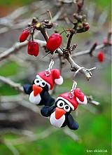 Vianočné náušnice - tučniaky
