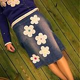 - Origo riflová sukňa od uplneho začiatku kvety - 3431695