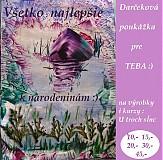 - Darčeková poukážka k narodeninám :) - 3450513