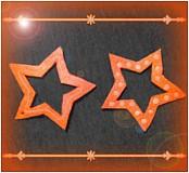 - Polymérová hviezda - ozdoba na stromček - oranžová - 3452662