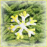 Dekorácie - VÝPREDAJ! Snehová vločka - fľakatá snowflake - fialová zamrznutá (x) - 3461615