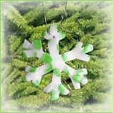 Dekorácie - VÝPREDAJ! Snehová vločka - fľakatá snowflake - fialová zamrznutá (x) - 3462007