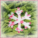 Dekorácie - VÝPREDAJ! Snehová vločka - fľakatá snowflake - fialová zamrznutá (x) - 3462211