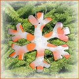 Dekorácie - VÝPREDAJ! Snehová vločka - fľakatá snowflake - fialová zamrznutá (x) - 3464519