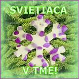 Dekorácie - VÝPREDAJ! Snehová vločka - fľakatá snowflake - fialová zamrznutá (x) - 3465016