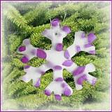 Dekorácie - VÝPREDAJ! Snehová vločka - fľakatá snowflake - fialová zamrznutá - 3465029