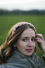 Ozdoby do vlasov - Čelenka - ruža ružová - 3465586