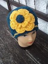 Čiapky - čiapka s veľkým žltým kvetom...:) - 3468175