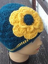 Čiapky - čiapka s veľkým žltým kvetom...:) - 3468177