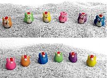 Dekorácie - Vianočné sovičky (oranžová) - 3469541