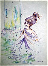 Kresby - Pri vodopáde - 3471857