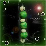 Dekorácie - Zelený vianočný ,,červík
