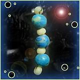 Dekorácie - Tyrkysový/modrý vianočný ,,červík