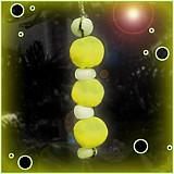 Dekorácie - Žltý vianočný ,,červík