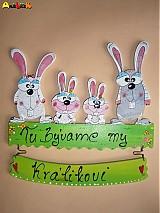 Tabuľky - Menovka rodinka zajačiky - 3479433