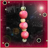 Dekorácie - Ružový vianočný ,,červík