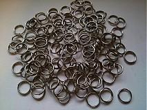 Krúžky navliekacie na výrobu bižu 8mm (balíček 100ks)