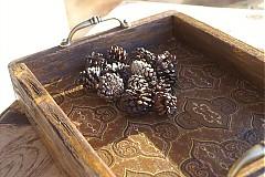 Nádoby - Podnos zo starého dreva - 3483765